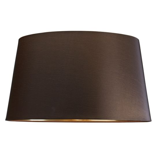 Luis Collection LUI/LS1018 Brown 43cm Shade With Gold Lining