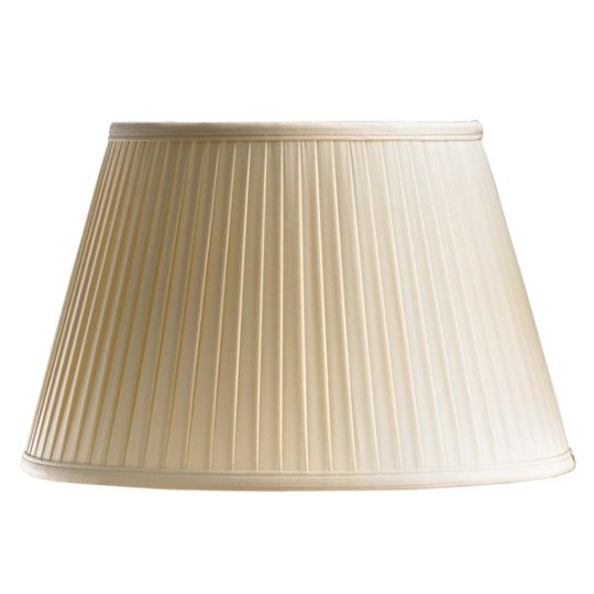 Luis Collection LUI/LS1037 Oyster 41cm Cotton Fine Pleat Shade