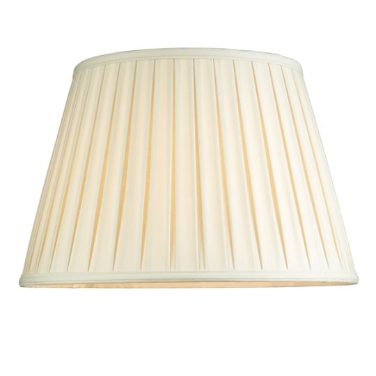 Luis Collection LUI/LS1038 Oyster 46cm Silk Box Pleat Shade