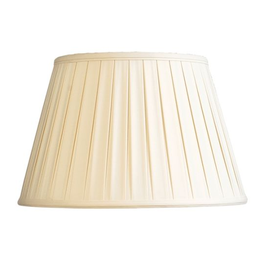Luis Collection LUI/LS1040 Oyster 41cm Cotton Box Pleat Shade