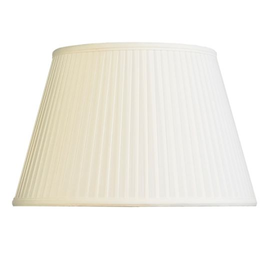 Luis Collection LUI/LS1046 Ivory 36cm Cotton Fine Pleat Oval Shade