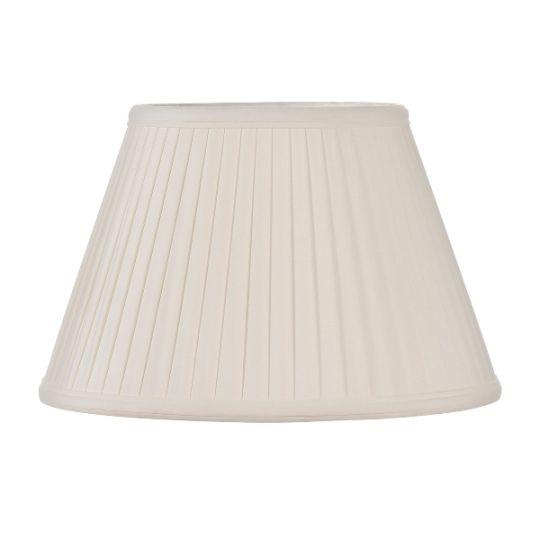 Luis Collection LUI/LS1052 Ivory 30cm Cotton Fine Pleat Shade