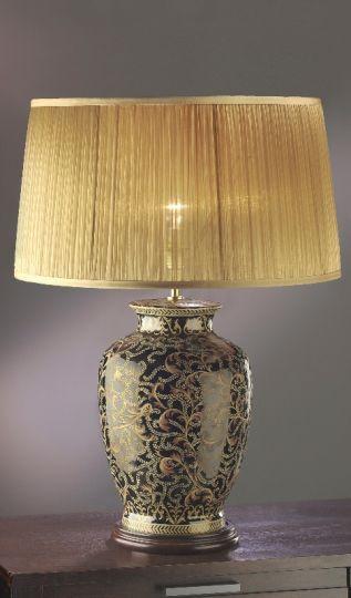 Luis Collection LUI/MORRIS LARGE Morris Gold/Black Large Table Lamp
