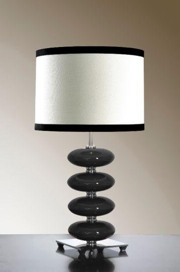 Luis Collection LUI/ONYX BLACK Onyx Black Table Lamp
