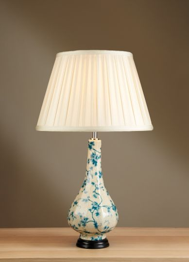 Luis Collection LUI/TEAL LEAVES Teal Leaves Table Lamp