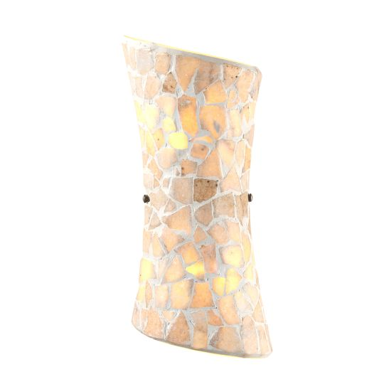 Endon Lighting - 2 LIGHT WALL BRACKET IN NATURAL STONE - MARCONI-2WBNA