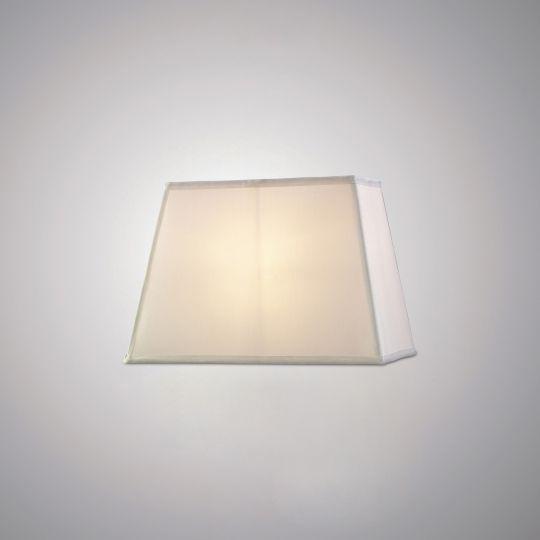 Diyas ILS20286 Maxine Rectangular Plain Fabric Shade 270/360x 240mm White