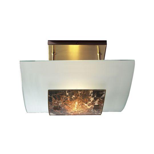 David Hunt Lighting MG78 Savoy Halogen Semi Flush Dark Marble Spare Glass SAV208