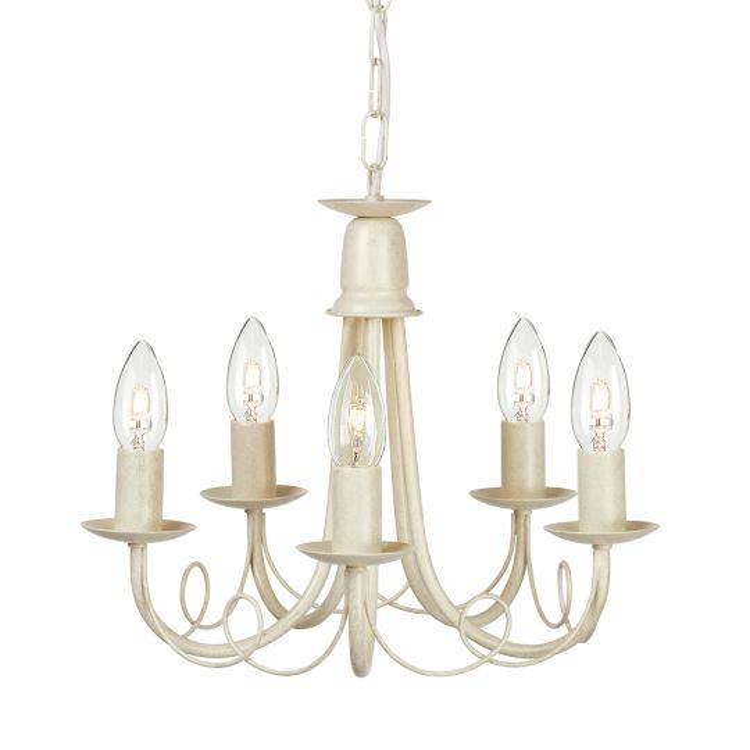 Elstead Lighting Minster 5 Light Chandelier - Ivory Gold MN5-IV-GOLD