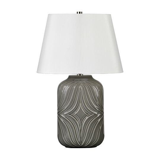 Elstead Lighting Muse 1 Light Table Lamp - Grey MUSE-TL-GREY