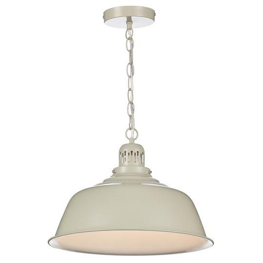 Dar Lighting Nantucket 1 Light Pendant Putty NAN0133