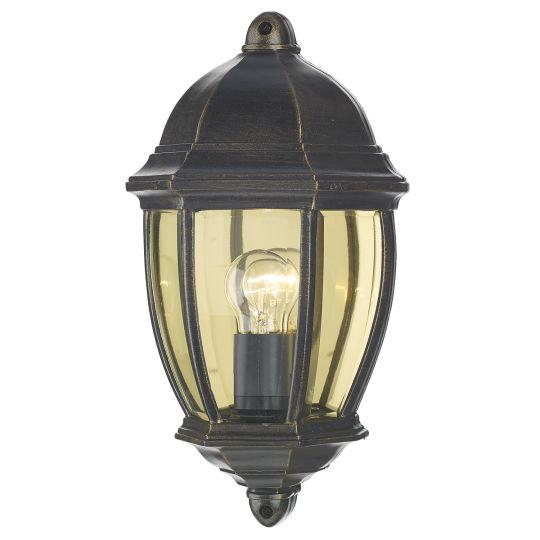 Dar Lighting Newport Outdoor Flush Black Gold IP43 NEW2135