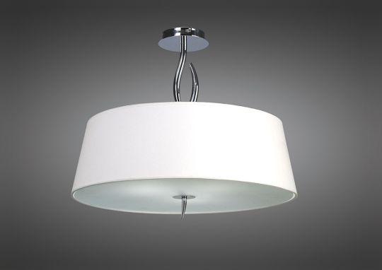 Mantra M1908 Ninette Semi Ceiling 4 Light E27 Polished Chrome With Ivory White Shade