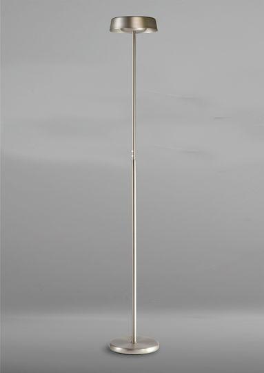 Mantra M4910 Noa Floor Lamp 2 Light 21W Down 9W Up LED 3000K 3000lm Satin Nickel 3yrs Warranty