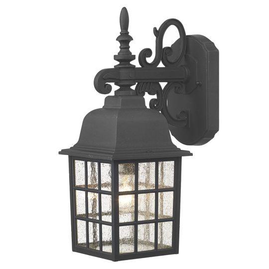Dar Lighting Norfolk Wall Bracket Downlight Black NOR1522