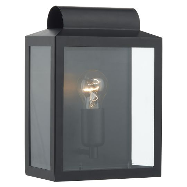 Dar Lighting Notary Rectangle Wall Bracket Black IP44 NOT2122