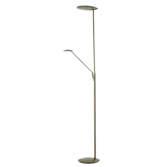Dar Lighting OUNDLE LED FLOOR STAND WITH READING LIGHT BRONZE OUN4963
