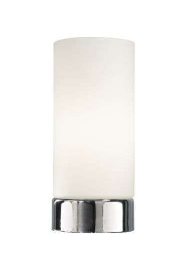 Dar Lighting OWE4050 - Owen Round Glass Touch Table Lamp complete with Shade