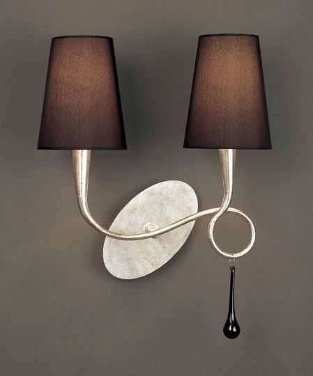 Mantra Lighting - Paola Switched Wall Lamp 2 Light Silver Leaf - M0537/S