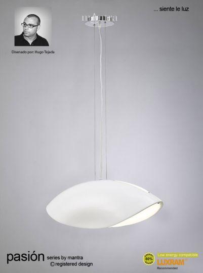 Mantra Lighting M1942 - Pasion Pendant 3 Light White