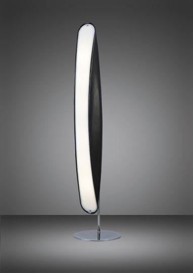 Mantra M1956 Pasion Floor Lamp 6 Light E27 Gloss Black/White Acrylic/Polished Chrome