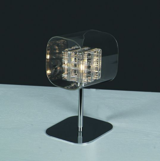 Impex PGH01515/01/TL/CH Avignon  Series Decorative 1 Light Chrome Table Lamp
