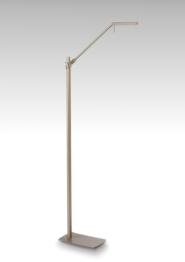 Mantra M4944 Phuket Floor Lamp 1 Light 7W LED 3000K 600lm Satin Nickel 3yrs Warranty