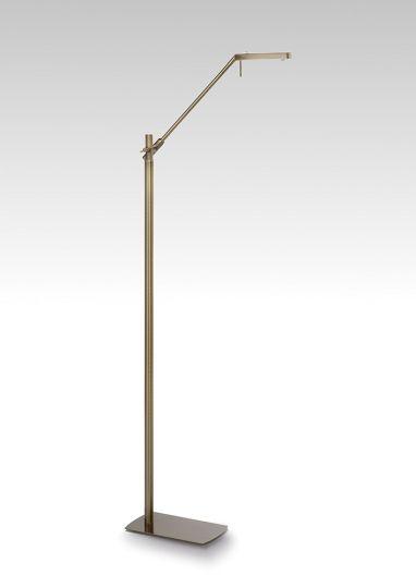 Mantra M4945 Phuket Floor Lamp 1 Light 7W LED 3000K 600lm Antique Brass 3yrs Warranty