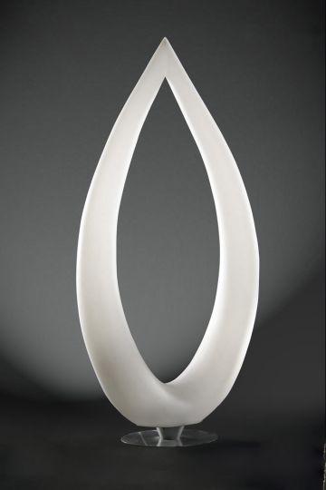 Mantra M1323 Pine Floor Lamp 4 Light CFL Indoor Polished Chrome/Opal White