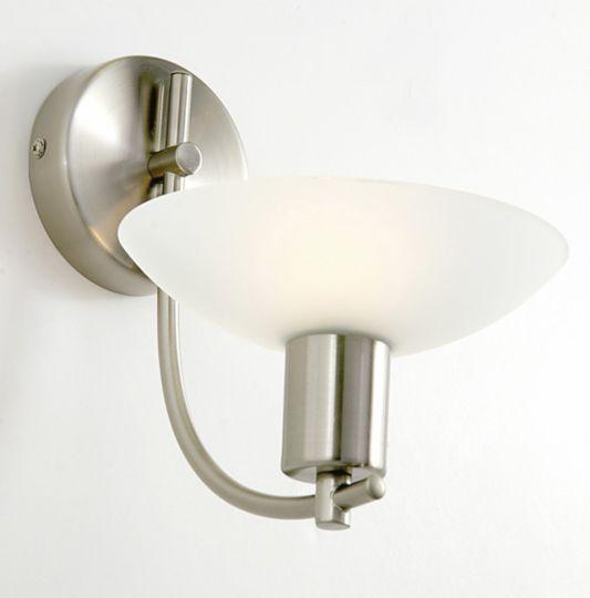 Diyas IL20570  Pini Wall Lamp G9 1 Light Satin Nickel/Opal Glass