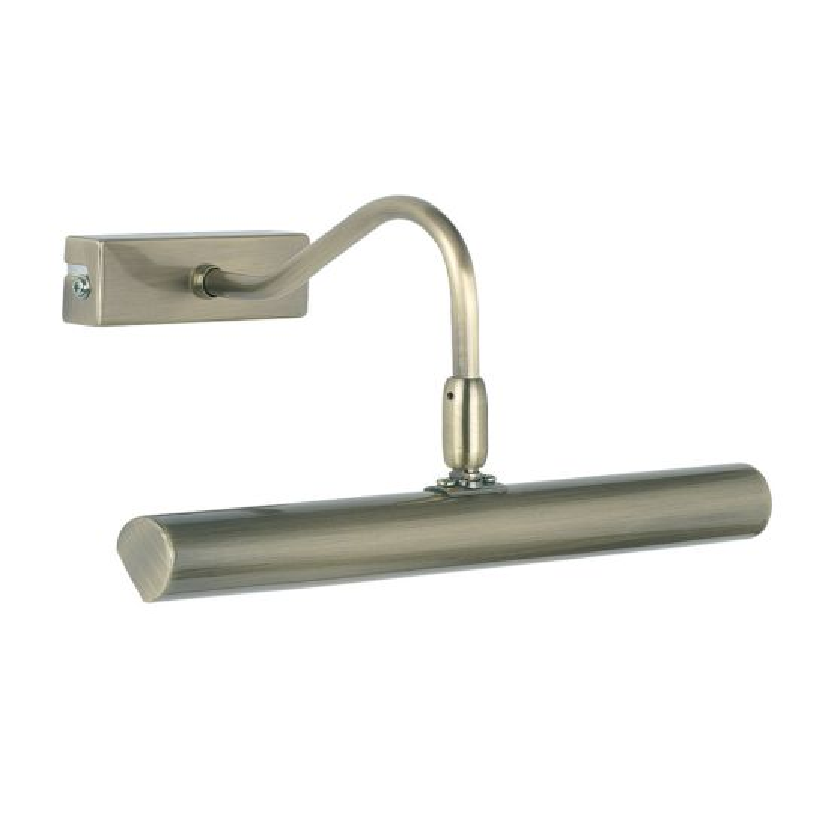 Endon Lighting Linton Antique Brass Plate 2 Light Wall Light PL-LEDG9-AN