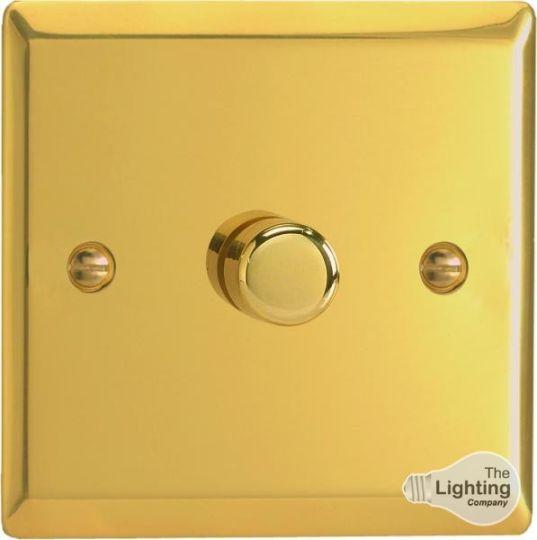 VARILIGHT Lighting - 1 GANG (SINGLE), 1 WAY 400 WATT DIMMER VICTORIAN POLISHED BRASS - HV1