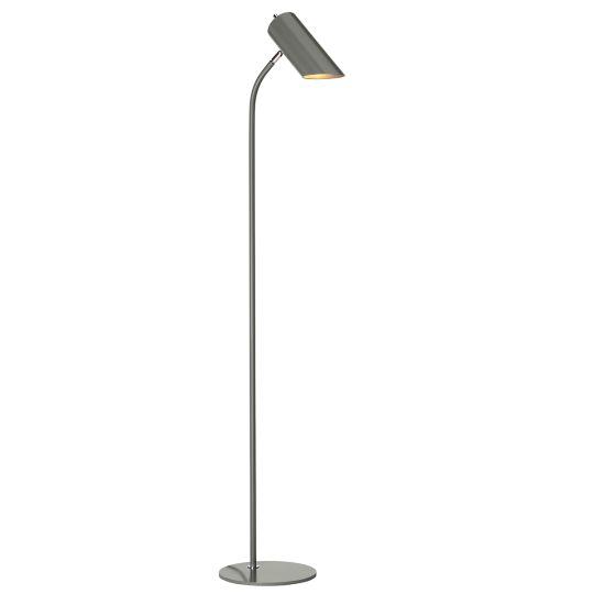Elstead Lighting Quinto 1 Light Floor Lamp - Dark Grey Polished Nickel QUINTO-FL-GPN