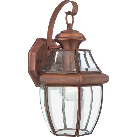 Quoizel Newbury 1 Light Medium Wall Lantern - Aged Copper QZ-NEWBURY2-M-AC