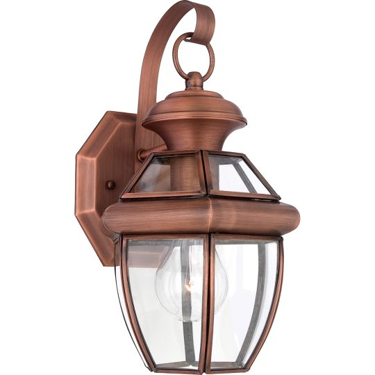 Quoizel Newbury 1 Light Small Wall Lantern - Aged Copper QZ-NEWBURY2-S-AC