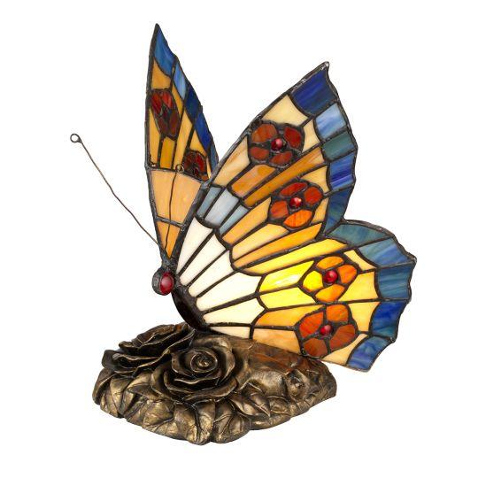 Quoizel Tiffany Animal Lamps Butterfly Tiffany Lamp QZ-OBUTTERFLY-TL