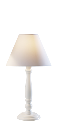 Dar Lighting REG422 - Regal Table Lamp 10 inch White complete with 9 inch COO0902 Shade