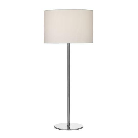 Dar Lighting Rimini Table Lamp Satin Chrome Base Only RIM4246