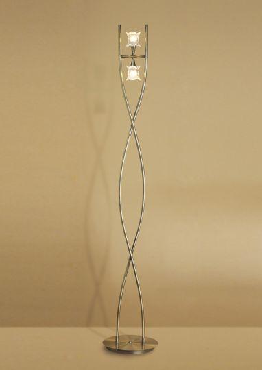 Mantra Lighting - Rosa Del Desierto Floor Lamp 2 Lights Antique Brass - M0054AB
