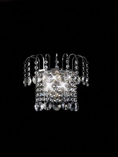 Diyas IL31052 Rosina Wall Lamp Switched 2 Light Polished Chrome/Crystal
