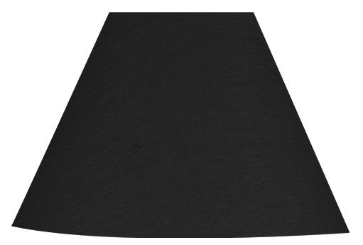 David Hunt Lighting S3643 Spearhead Black Poly Cotton Candle Shade Silver Lining