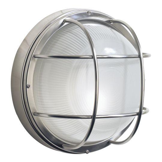 Dar Lighting Salcombe Large Round Steel Wall Light IP44 SAL5044