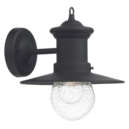 Dar Lighting Sedgewick 1 Light Lantern Black Down Facing IP44 SED1522
