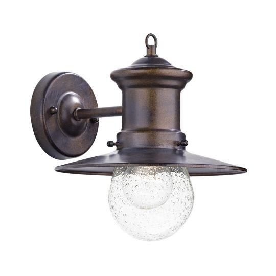 Dar Lighting Sedgewick 1 Light Lantern Bronze Down Facing IP44 SED1529