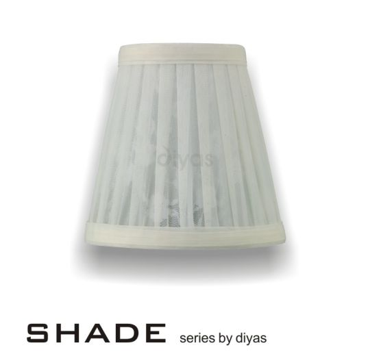 Diyas Lighting - Organza Patterned Cream 13cm Shade - ILS10125