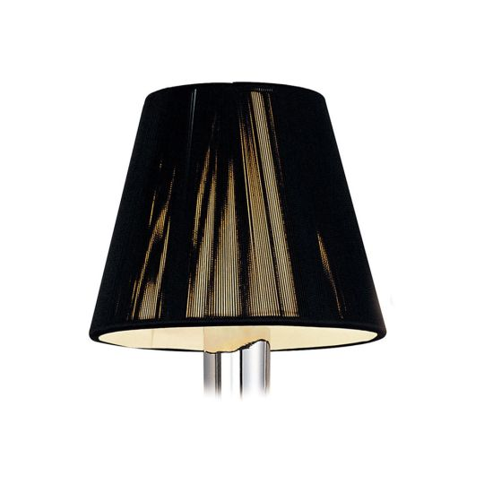 Mantra Lighting - 13cm Silk String Clip On Shade Black - MS001
