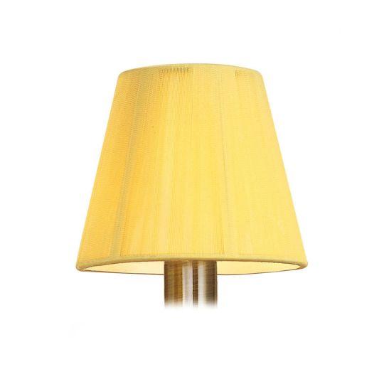 Mantra Lighting - 13cm Silk String Clip On Shade Amber Cream - MS007