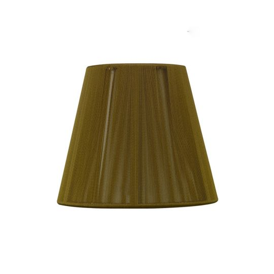 Mantra Lighting - 130MM CLIP ON SILK STRING SHADE OLIVE - MS013