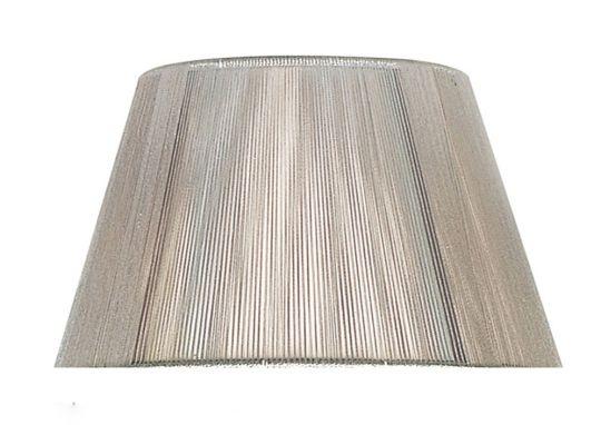 Mantra Lighting - 40cm Silk String Shade Silver Grey - MS043