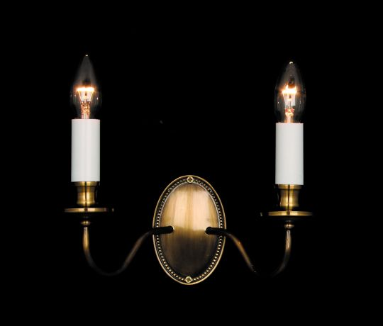 Impex Lighting - Georgian 2lt Light Bronze